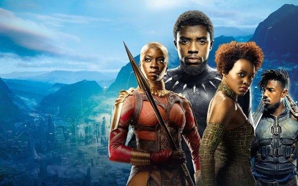 Movie Black Panther T'Challa Okoye Nakia Erik Killmonger HD Wallpaper | Background Image