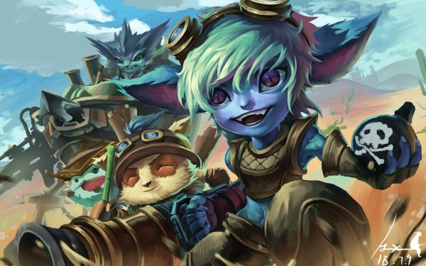 Video Game League Of Legends Tristana Teemo Rumble Poro HD Wallpaper | Background Image