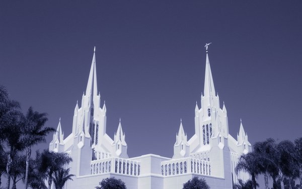 Religious San Diego California Temple Temples Mormon Temple HD Wallpaper | Background Image