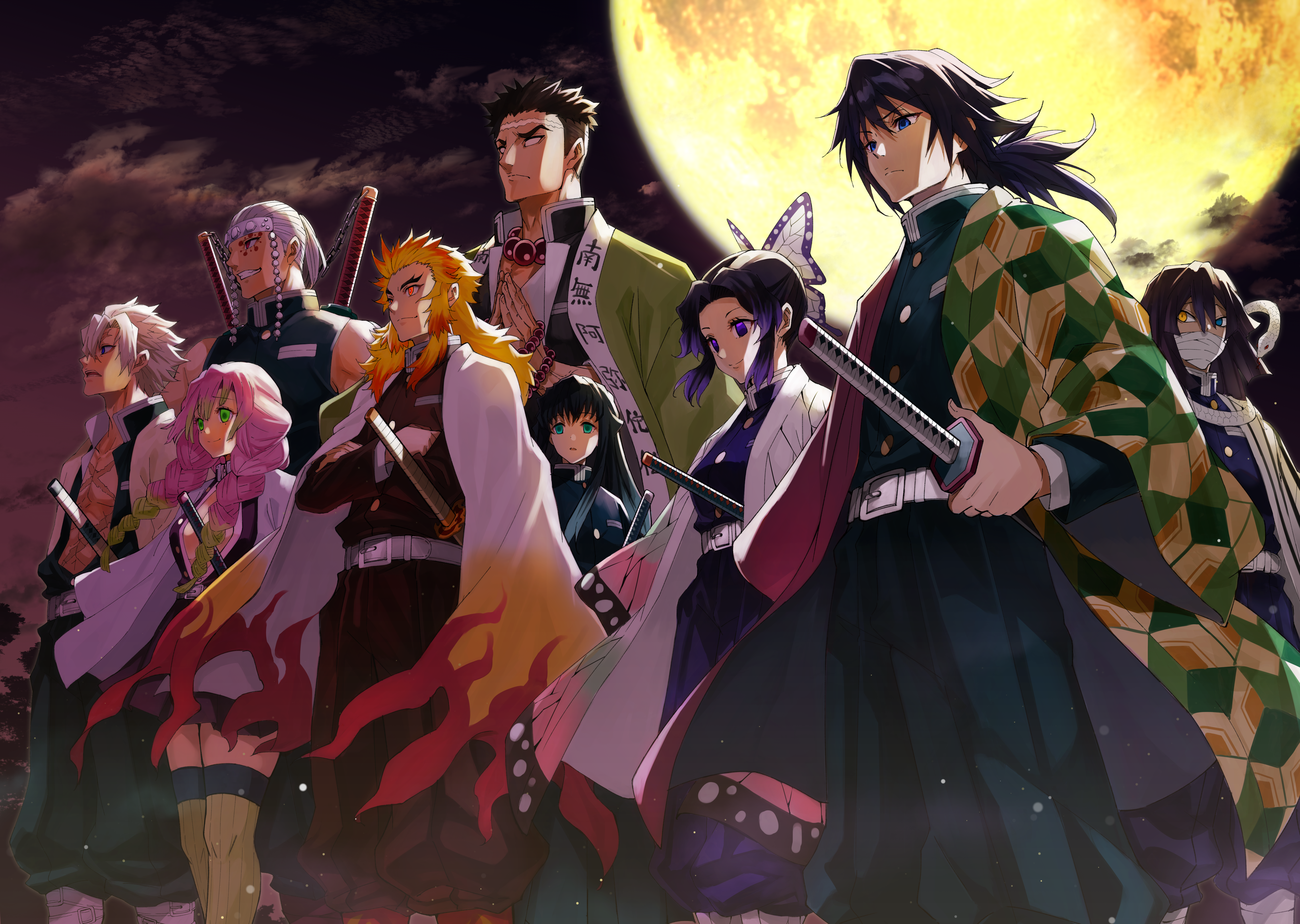 Demon Slayer Kimetsu No Yaiba 5k Retina Ultra Hd Wallpaper Background Image 5870x4175 Id 1079551 Wallpaper Abyss Include original source for the picture in the comments. wallpaper abyss alpha coders