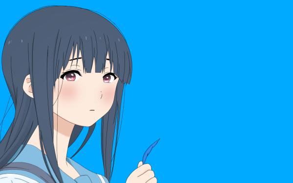 Anime Liz and the Blue Bird Mizore Yoroizuka Blue Cute Long Hair HD Wallpaper | Background Image