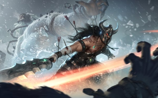 Video Game Legends of Runeterra Tryndamere Freljord HD Wallpaper | Background Image