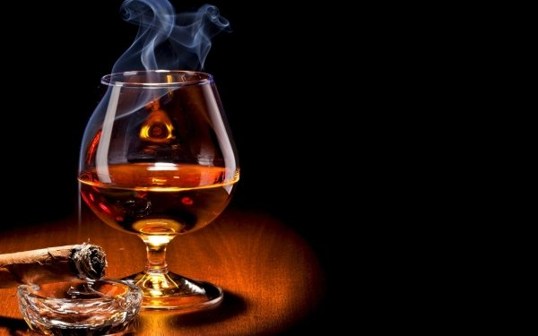 Food Alcohol Cigar Drink Glass HD Wallpaper | Background Image