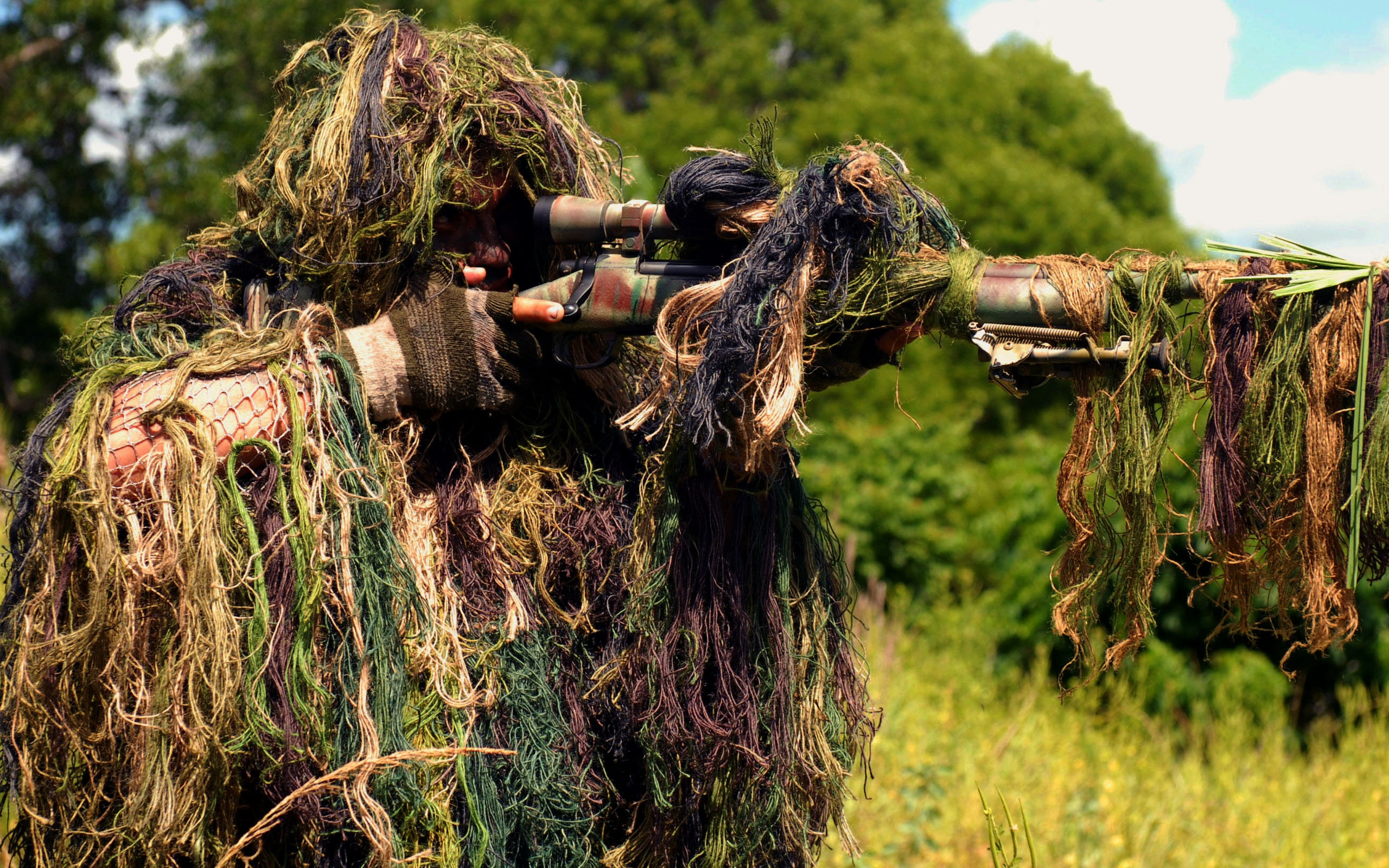 72 Ghillie Suit Wallpapers On Wallpaperplay: Sniper HD Wallpaper