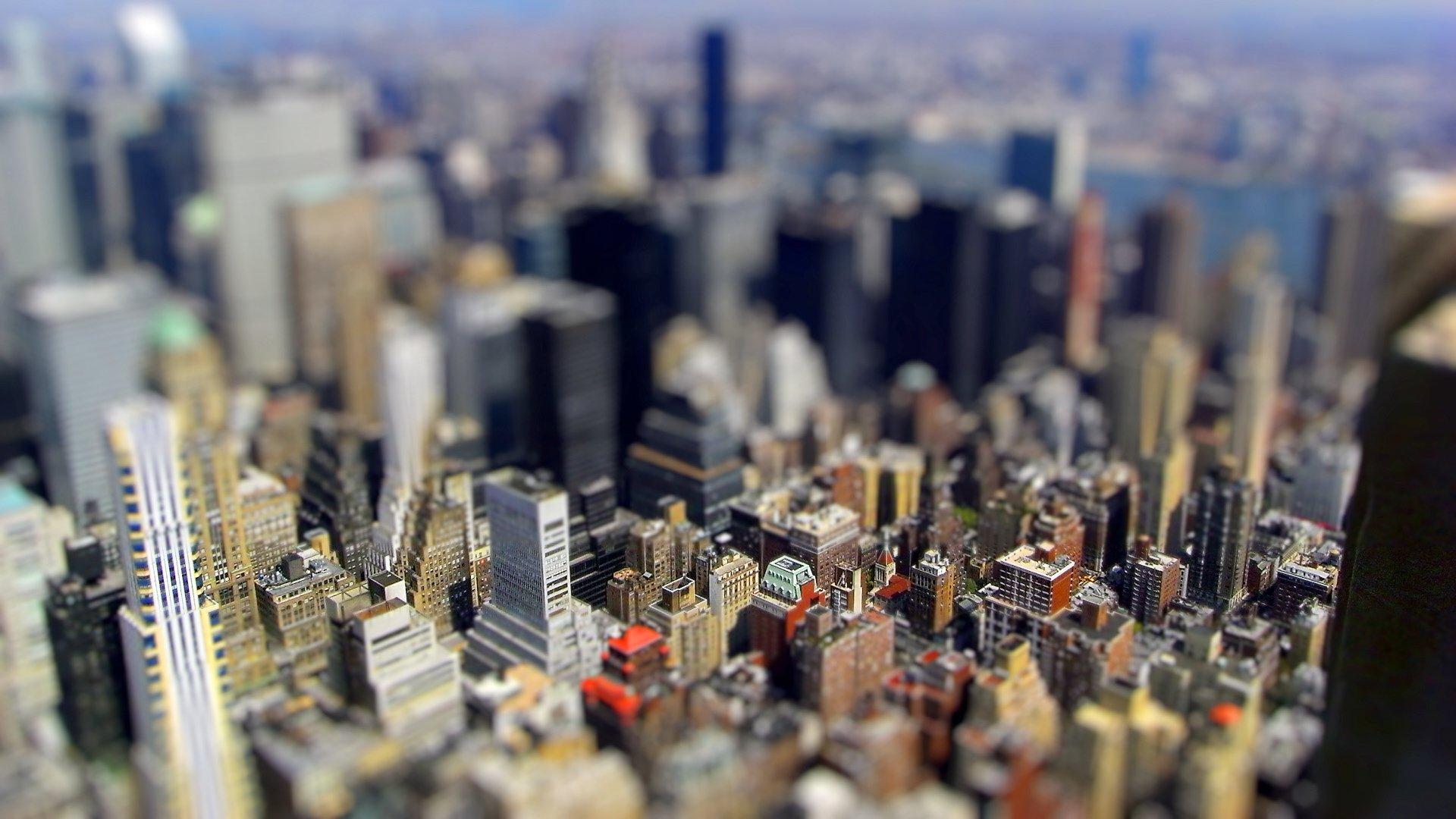Tilt Shift New York Hd Wallpaper Hintergrund 1920x1080