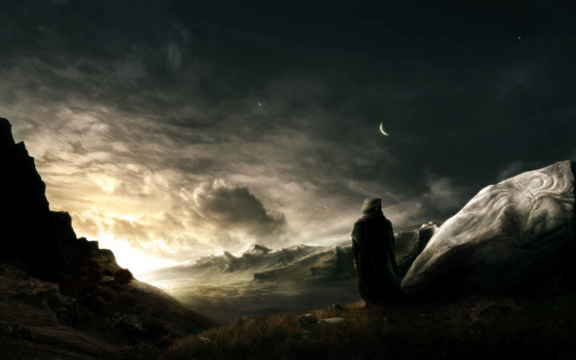 Artistic - Landscape  Warrior Fantasy Wallpaper