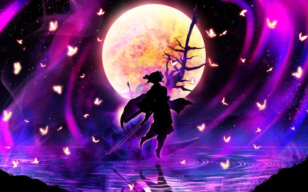 Anime Demon Slayer: Kimetsu no Yaiba Shinobu Kochou HD Wallpaper   Background Image