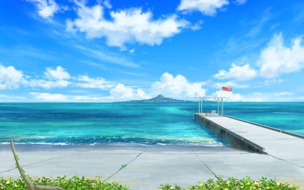 Anime Original Ocean Sky HD Wallpaper   Background Image
