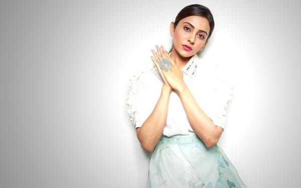 Celebrity Rakul Preet Singh Actresses India Model Brunette Indian Actress Bollywood Lipstick Brown Eyes HD Wallpaper | Background Image