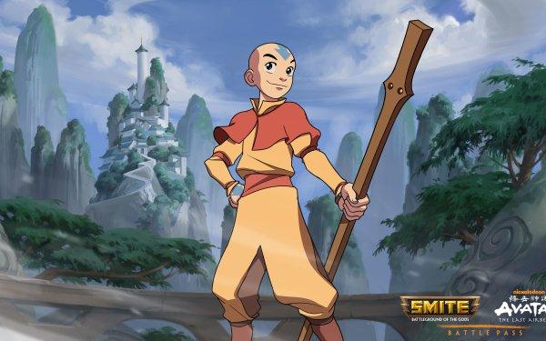 Video Game Smite Aang Merlin HD Wallpaper   Background Image