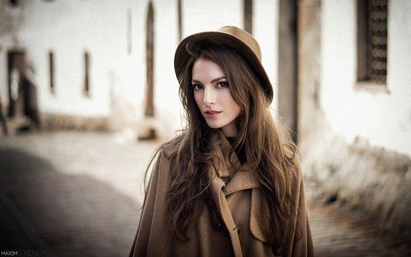 Women Karina Suntseva Models Russia Model Karina Sunceva Hat HD Wallpaper | Background Image