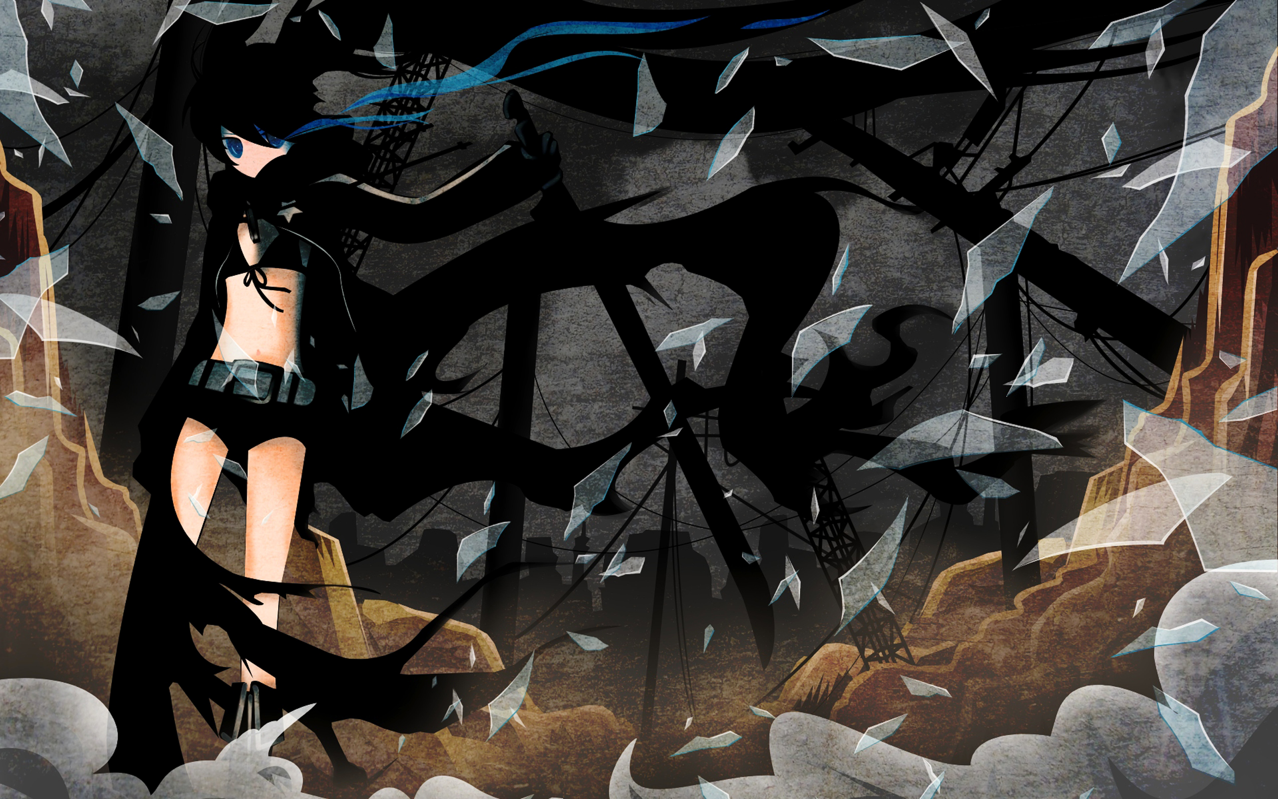 Anime - Black Rock Shooter  - Mato Fondo de Pantalla
