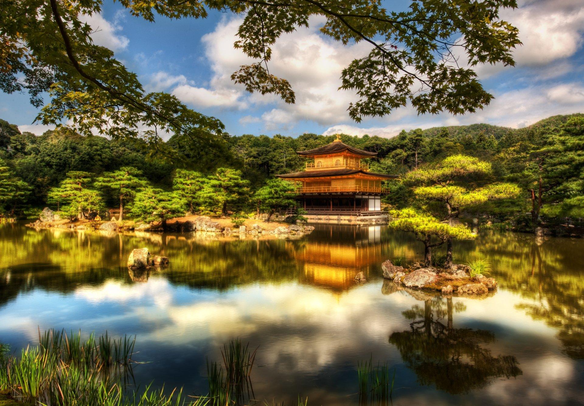 Fotografía - HDR  Kinkaku-ji Japón Kyoto Fondo de Pantalla