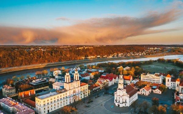 Man Made Kaunas Cities Lithuania HD Wallpaper | Background Image