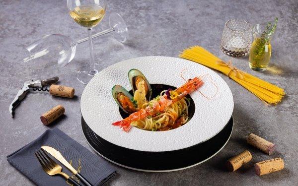 Alimento Marisco Pasta Mussel Gamba Vino Fondo de pantalla HD   Fondo de Escritorio