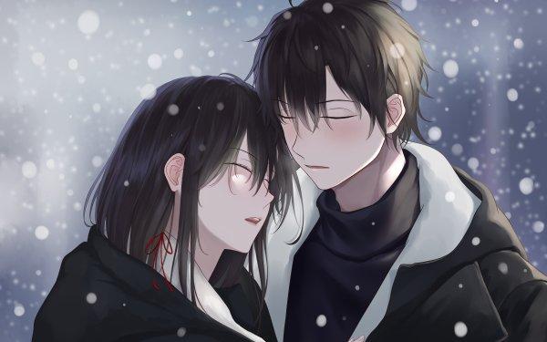 Anime My Teen Romantic Comedy SNAFU Yahari Ore no Seishun Love Comedy wa Machigatteiru Hachiman Hikigaya Yukino Yukinoshita Girl Boy Black Hair Long Hair HD Wallpaper | Background Image