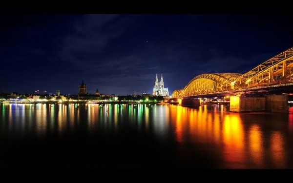 Man Made Bridge Bridges Hohenzollern Bridge Cologne Germany HD Wallpaper   Background Image