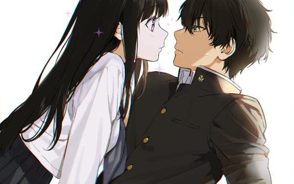 Anime Hyouka Hōtarō Oreki Eru Chitanda HD Wallpaper   Background Image