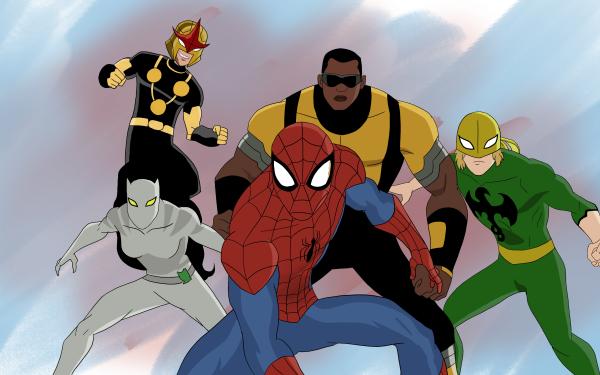 TV Show Ultimate Spider-Man Spider-Man Iron Fist Nova Luke Cage Marvel Comics White Tiger Sam Alexander HD Wallpaper | Background Image