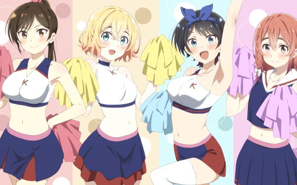 Anime Rent-A-Girlfriend Kanojo Okarishimasu Chizuru Ichinose Mami Nanami Ruka Sarashina Sumi Sakurasawa HD Wallpaper | Background Image