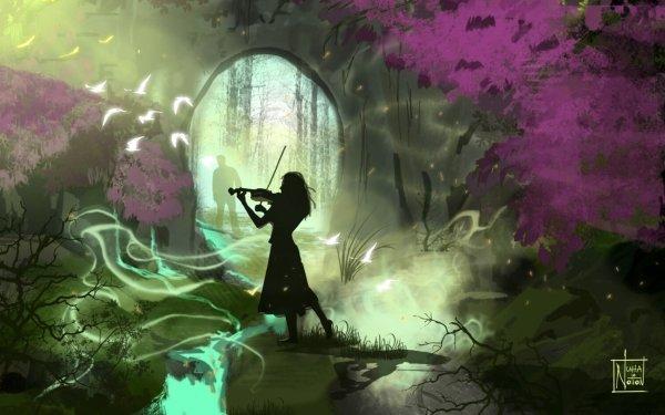 Fantasy Women Violinist HD Wallpaper | Background Image