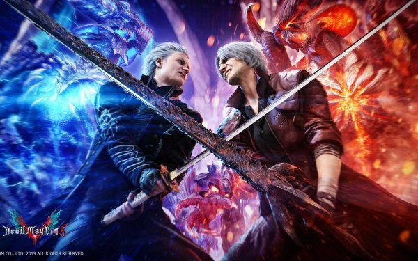 Video Game Devil May Cry 5 Devil May Cry Dante Vergil HD Wallpaper | Background Image