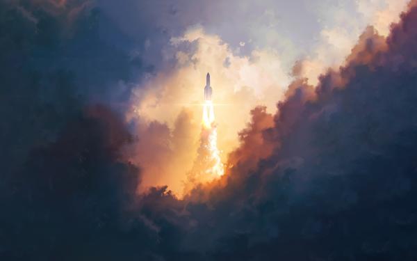 Vehicles Ariane 5 Sky Rocket HD Wallpaper | Background Image