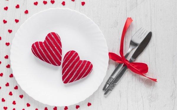 Día festivo Día de San Valentín Corazón Plate Fondo de pantalla HD | Fondo de Escritorio