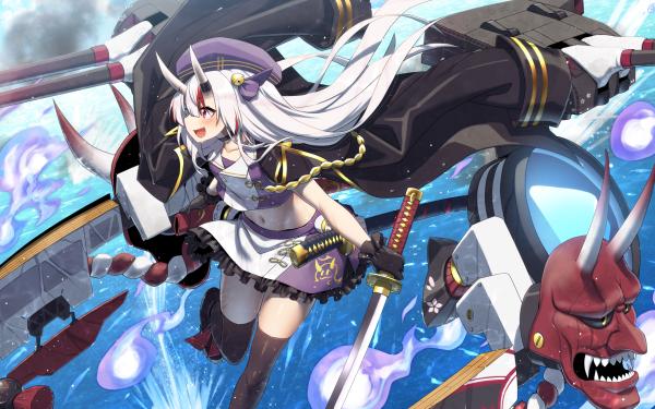 Anime Crossover Nariki Ayame Azur Lane Hololive HD Wallpaper | Background Image