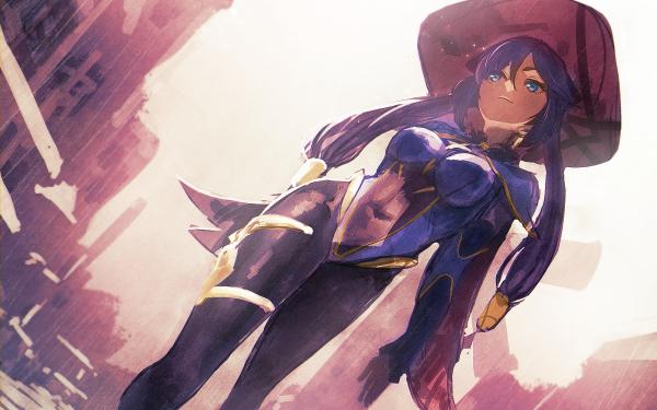 Video Game Genshin Impact Mona Blue Eyes HD Wallpaper   Background Image