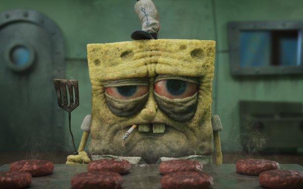TV Show Spongebob Squarepants Hamburger Smoking HD Wallpaper | Background Image