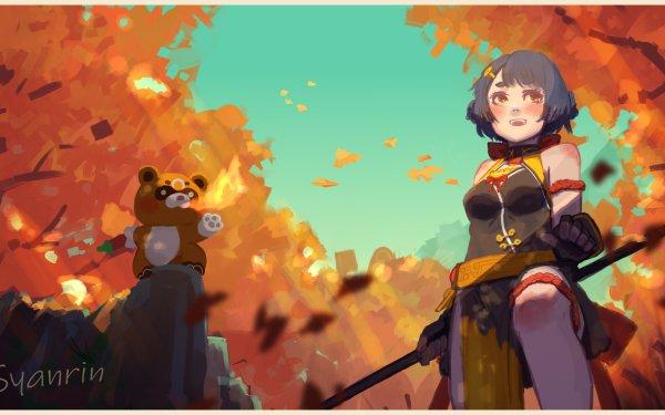 Video Game Genshin Impact Xiangling Guoba HD Wallpaper   Background Image