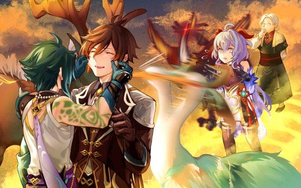 Video Game Genshin Impact Xiao Zhongli Ganyu HD Wallpaper | Background Image