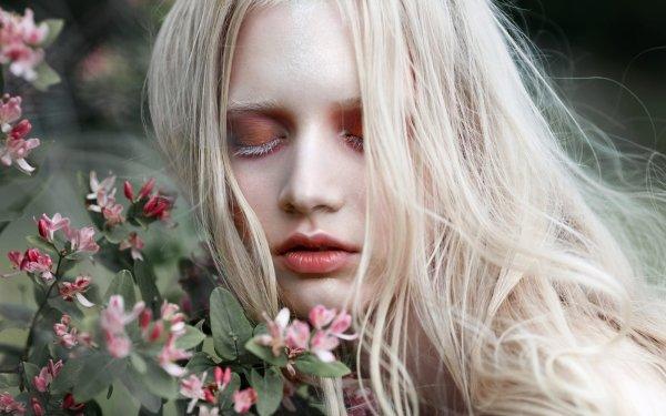 Women Model Models Girl Blonde Makeup Portrait Face HD Wallpaper | Background Image