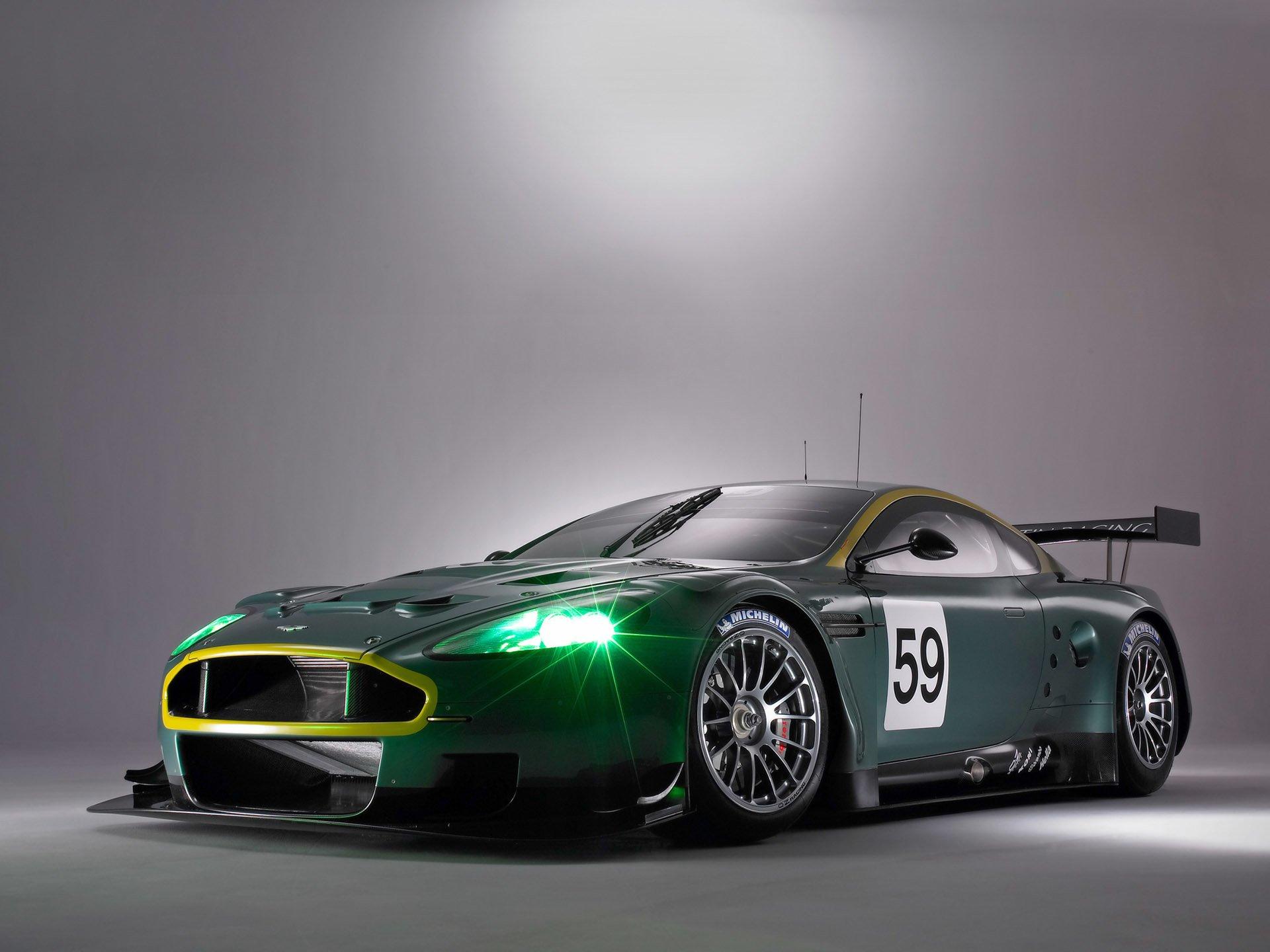 Vehicles - Aston Martin DBR9  Sport Grey Car Green Aston Martin Wallpaper