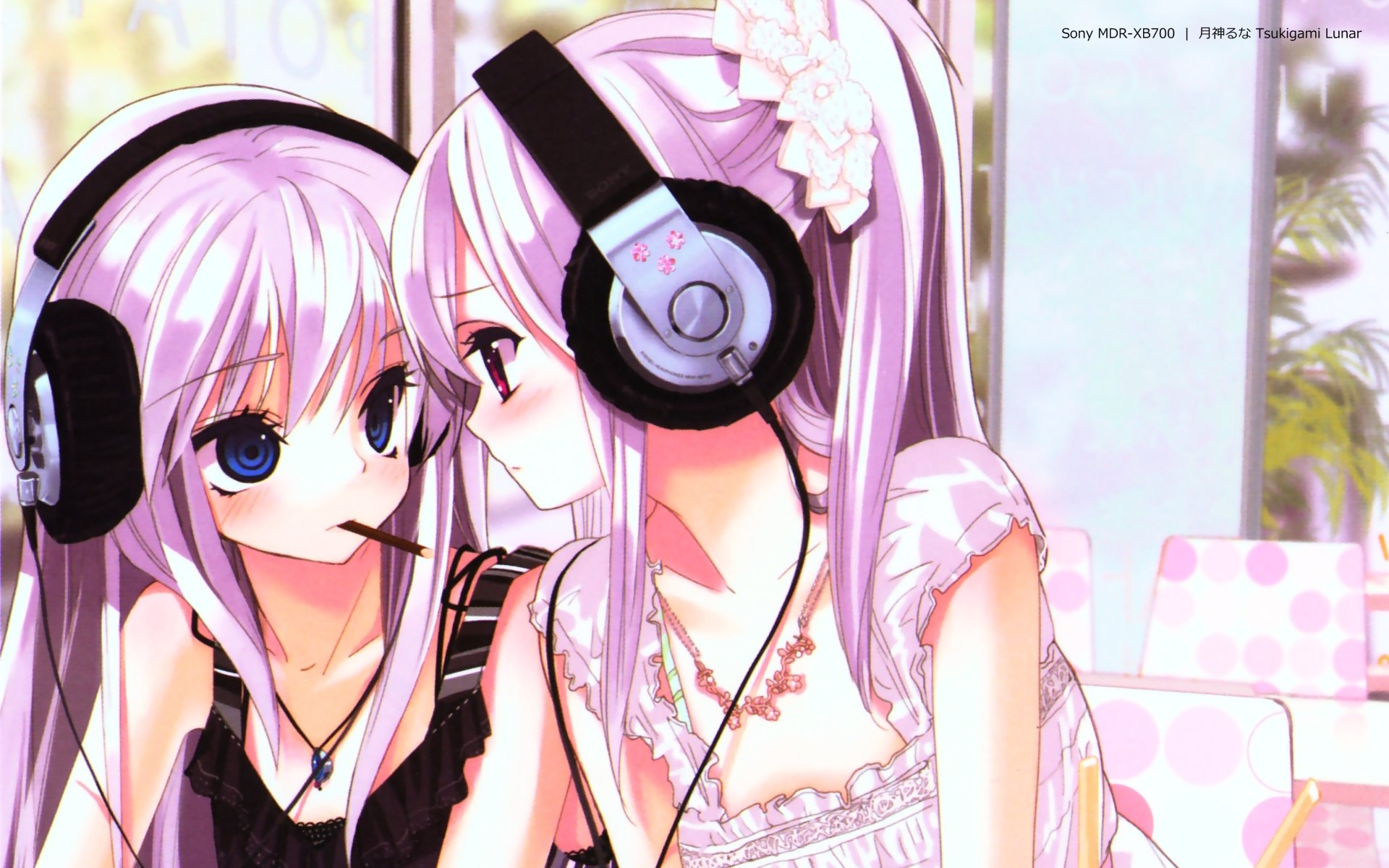 Anime Headphones Wallpaper