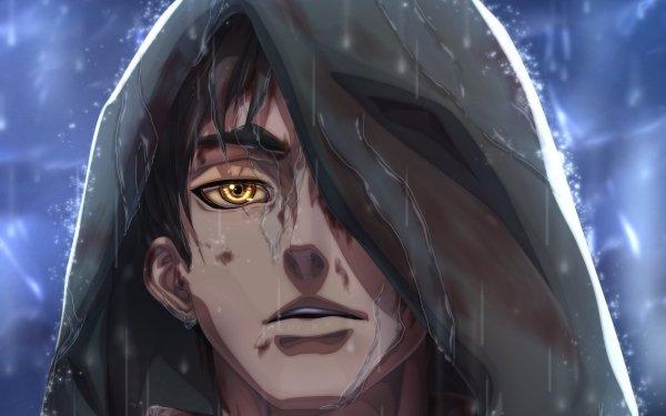 Anime Attack On Titan Eren Yeager Shingeki No Kyojin Yellow Eyes Black Hair HD Wallpaper | Background Image
