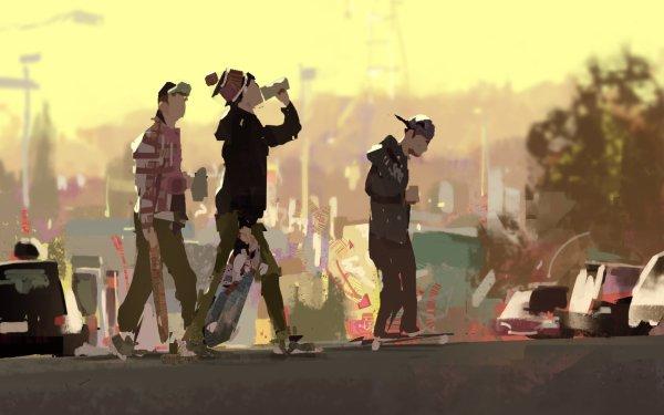 Artistic Street Art Skateboarding HD Wallpaper   Background Image