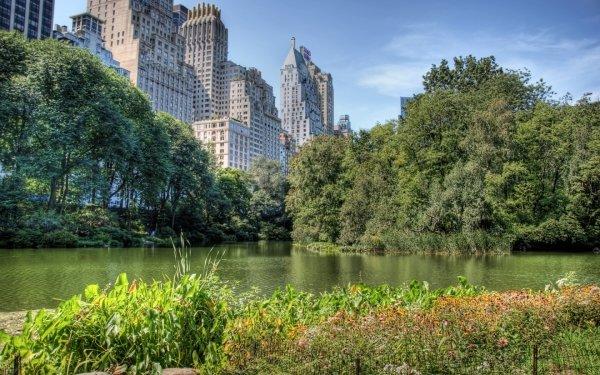 Man Made City Cities Central Park New York Manhattan HD Wallpaper | Background Image