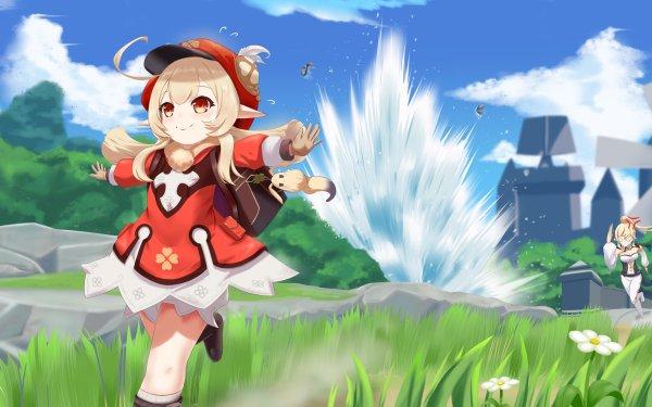 Video Game Genshin Impact Jean Klee HD Wallpaper | Background Image