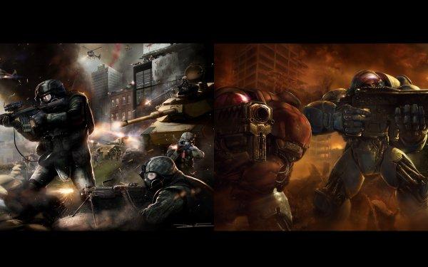 Video Game Crossover World War Z Starcraft II HD Wallpaper | Background Image