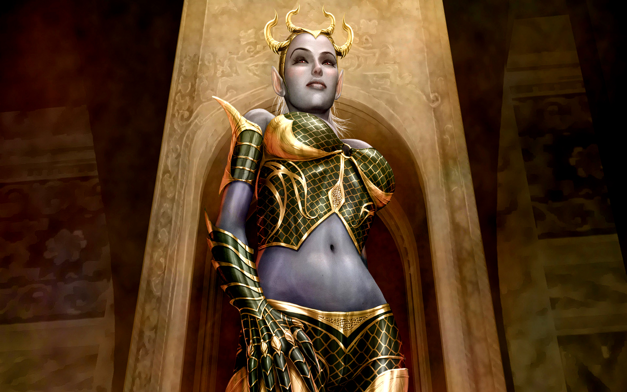 Fantaisie - Sylvan  Warrior Fond d'écran