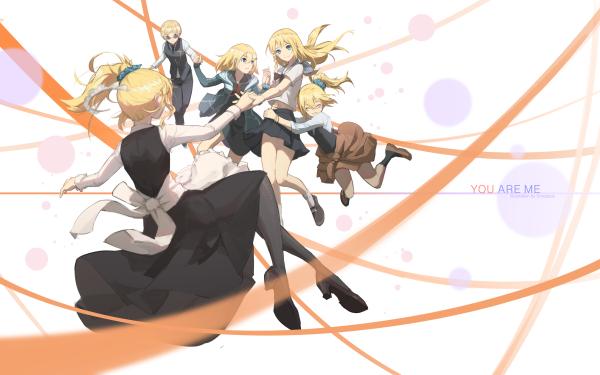 Anime Kaguya-sama: Love is War Kaguya-sama wa Kokurasetai Ai Hayasaka Blonde School Uniform Blue Eyes Maid Long Hair Short Hair HD Wallpaper | Background Image