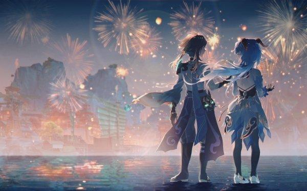 Video Game Genshin Impact Ganyu Xiao HD Wallpaper | Background Image