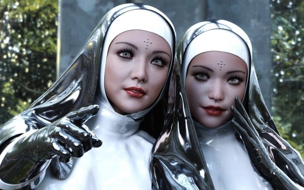 Fantasy Women Nun HD Wallpaper | Background Image
