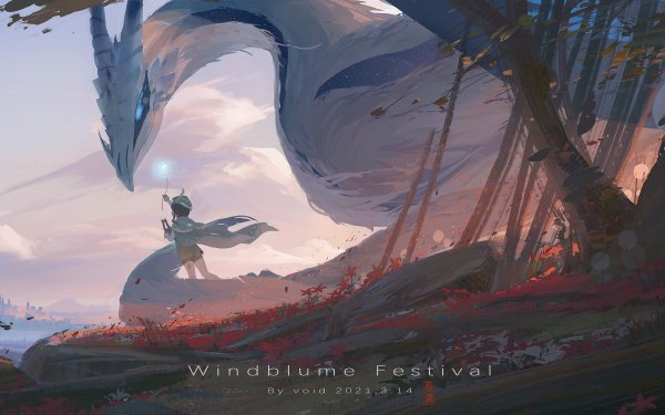 Video Game Genshin Impact Venti Dvalin HD Wallpaper | Background Image