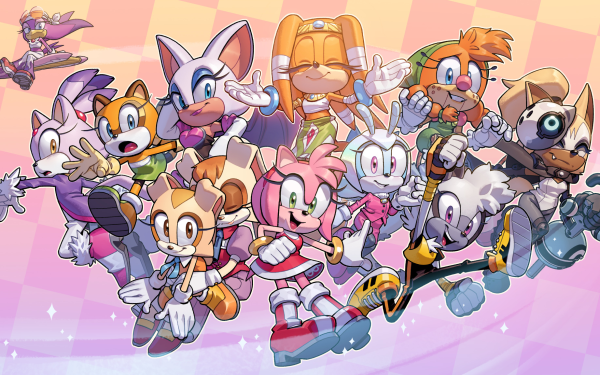 Comics Sonic the Hedgehog (IDW) Amy Rose Tangle the Lemur Cream the Rabbit Blaze the Cat Whisper the Wolf Tikal Marine the Raccoon Rouge the Bat Wave the Swallow Vanilla the Rabbit Jewel the Beetle Belle the Tinkerer HD Wallpaper | Background Image