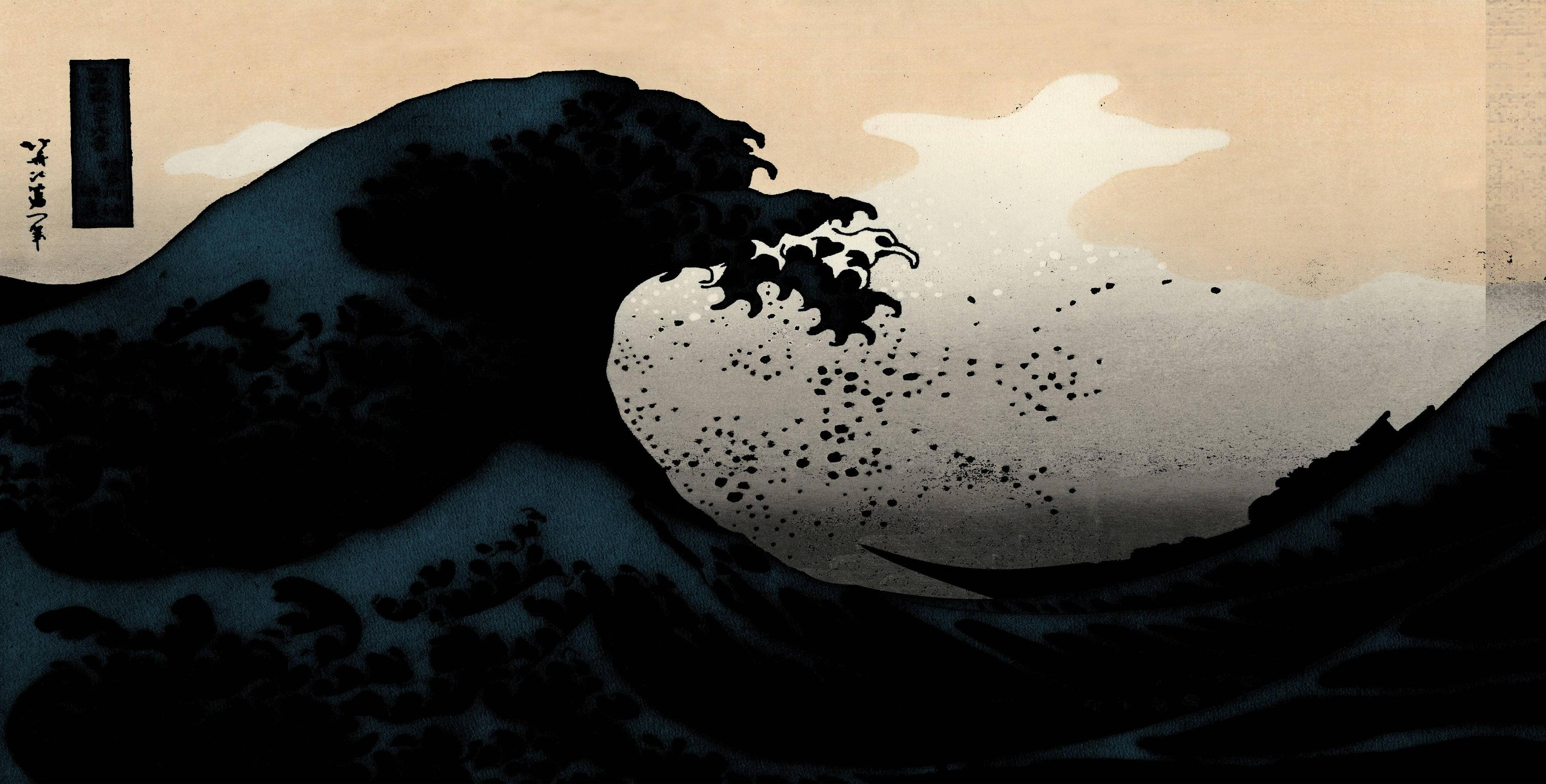 The Great Wave Off Kanagawa Hd Wallpaper Background Image