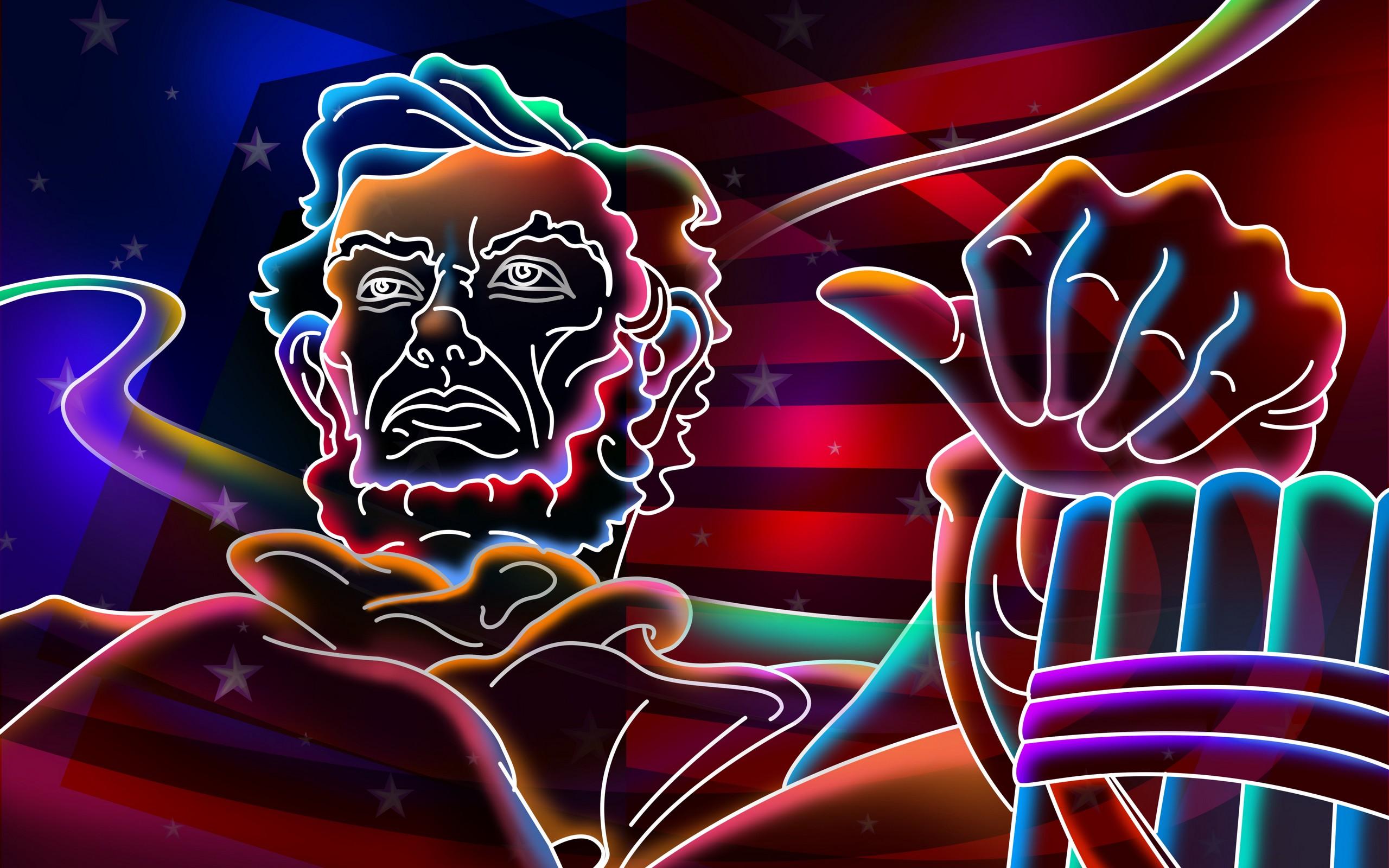 Abe Lincoln frees the raves Papel de Parede HD Plano de
