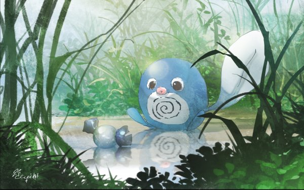 Anime Pokémon Poliwag HD Wallpaper   Background Image